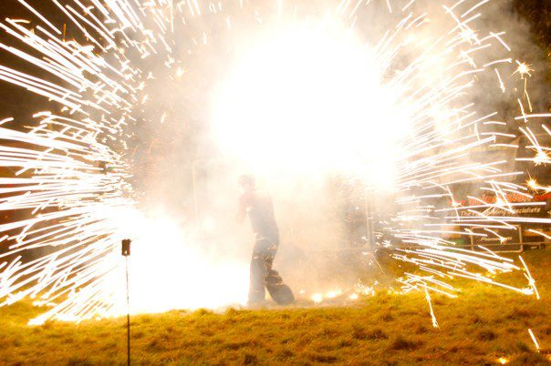 Explosive Poi Pyrotechnics