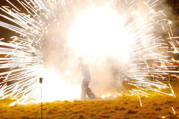 Explosive Poi Pyrotechnics