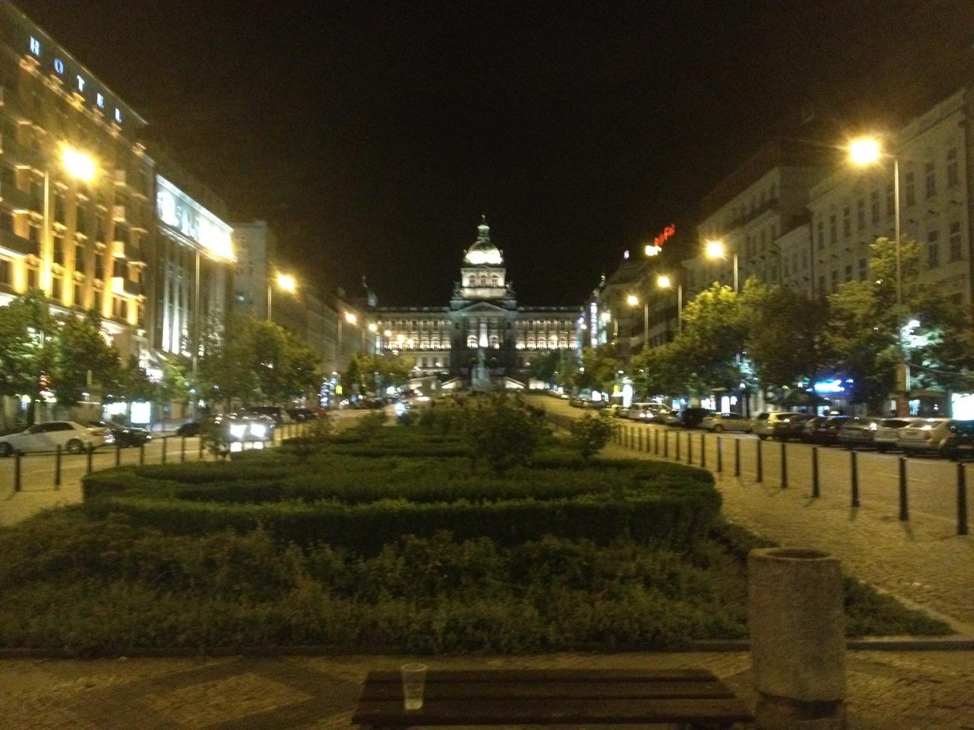 prague nightlife square